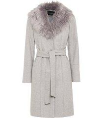 cappotto con collo in ecopelliccia (grigio) - bodyflirt