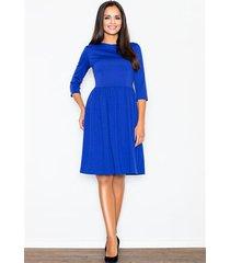 sukienka finezja m117 niebieska