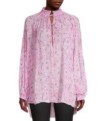 iro women's sevrin floral-print blouse - light pink - size 34 (2)