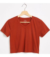 lou & grey cropped v-neck softserve tee