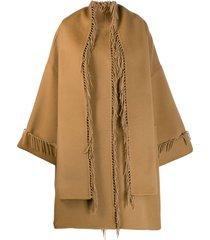 p.a.r.o.s.h. tassel cape coat - neutrals