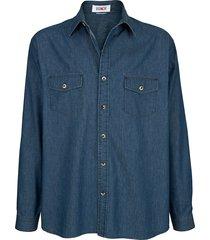 jeansoverhemd roger kent blue stone