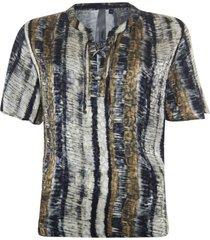 gestreepte jacquard blouse