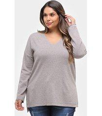 suéter city lady plus size feminino