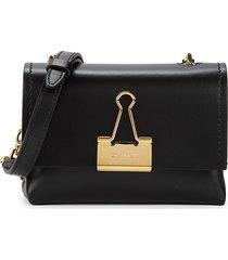 off-white women's small soft leather crossbody bag - black