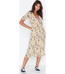 glamorous floral v neck dress loose fit dresses
