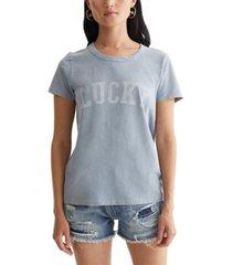 lucky brand classic logo t-shirt