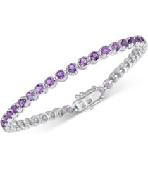 amethyst tennis bracelet (4 ct. t.w.) in sterling silver