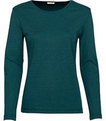 biologisch katoenen shirt met ronde hals en lange mouwen, oceaanblauw 34