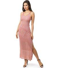8145ff4281 Vestidos - Com Fendas - Rosa Claro - 31 produtos com até 65.0% OFF ...