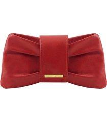 tuscany leather tl141801 priscilla - pochette in pelle rosso
