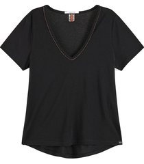 t-shirt v neck zwart