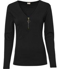 maglia a costine con cerniera (nero) - bodyflirt boutique