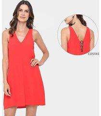 vestido colcci evasê curto detalhe metalizado costa