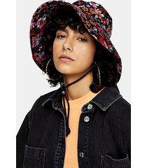 floral ditsy bucket hat - multi