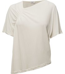 smock jersey top blouses short-sleeved crème filippa k