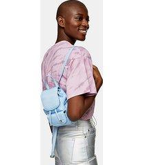 blue micro nylon backpack - blue