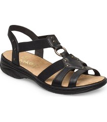 64574-00 shoes summer shoes flat sandals svart rieker