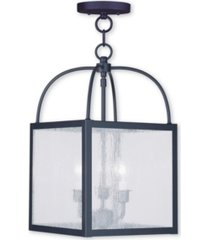 livex milford 3-light convertible mini pendant/ceiling mount