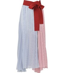 red and navy blanche pareo skirt