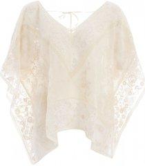 twinset dames blouses blouses-lange-mouw creme