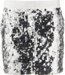 8pm sequined short skirt - silver
