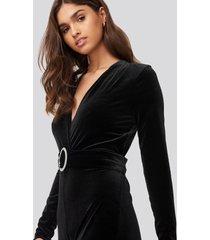 mango tuxedos jumpsuit - black