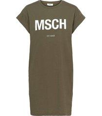 alvidera msch est dress dresses t-shirt dresses grön moss copenhagen