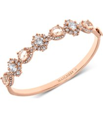 marchesa rose gold-tone crystal & stone bangle bracelet