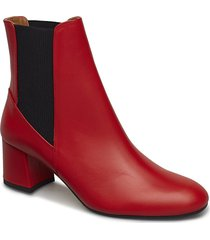 altea shoes boots ankle boots ankle boots with heel röd atp atelier
