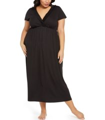 charter club plus size lace-trim long nightgown, created for macy's