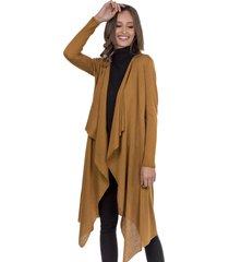 kimono longo myah leona mostarda - amarelo - feminino - dafiti