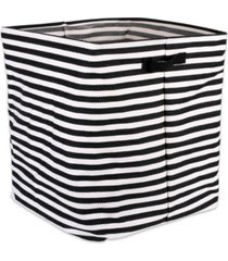 design imports polyethylene coated herringbone woven cotton laundry hamper stripe rectangle