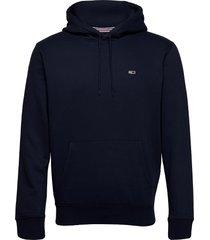 tjm regular fleece hoodie hoodie trui blauw tommy jeans