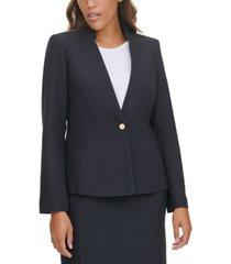 calvin klein single-button notched-collar blazer