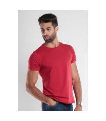 camiseta slim gola redonda com elastano vermelho traymon tr0004