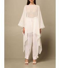 emporio armani top emporio armani long blouse in micro mesh