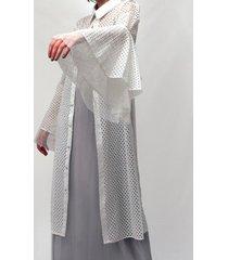 blusón camisero malla blanco lorenza bas