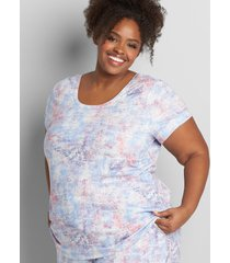 lane bryant women's livi french terry sweatshirt - cutout-back 38/40 california crackle