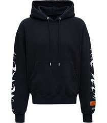 heron preston black hp brush jersey hoodie