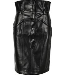 philosophy eco leather mid skirt