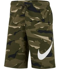pantaloneta nike camofrench terry camouflage para hombre - verde