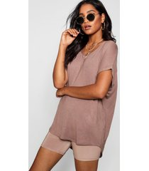 basic oversized t-shirt, mokka