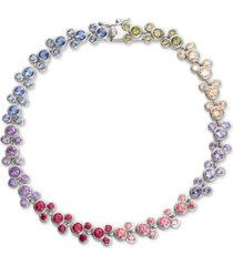 disney cubic zirconia mickey mouse tennis bracelet in sterling silver
