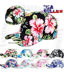 hawaiian snapback baseball cap tropical curved bill adjustable hawaii floral hat