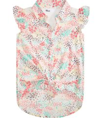 epic threads big girls ditsy-print tie-front top, created for macy's