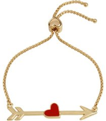 betsey johnson heart arrow slider bracelet