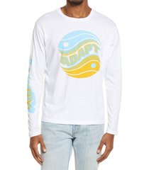 men's bp. men's down to earth long sleeve graphic tee, size xx-large - white