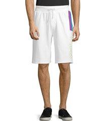 fila men's ajay shorts - white - size s