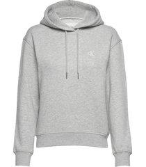 ck embroidery hoodie hoodie trui grijs calvin klein jeans